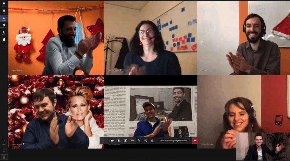 Virtuelle Show auf Zoom, Teams und Hangouts